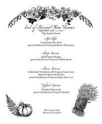 End of Harvest Wine Dinner