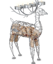 Reindeer Cork Cage Candleabra